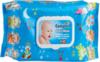 """Салфетки влажные """"Ultra Compact"""" Baby Wipes  детские №64 с крышечкой с рыбкой"""