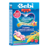 Bebi Premium каша молочная 3 злака с малиной и мелиссой обогащ. пребиотик 200гр