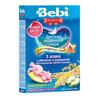 Bebi Premium каша молочная 3 злака с яблоком и ромашкой обогащ. пребиотик 200гр