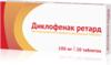 Диклофенак ретард таб пролонгированного д-вия п/о 100мг №20