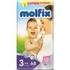 Подгузники Молфикс Comfort Fix миди 3 №68 (4-9кг) джамбо